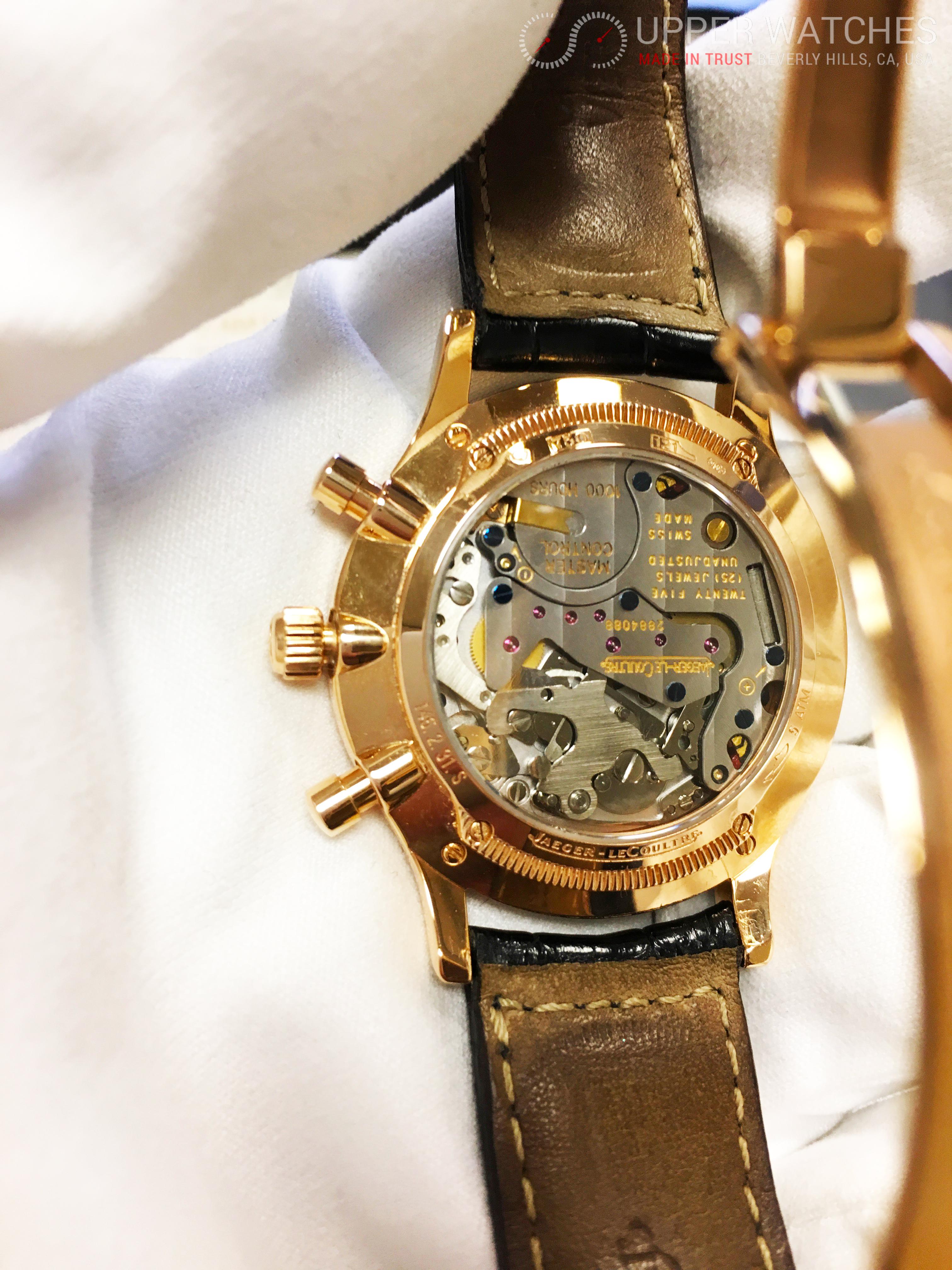 Jaeger lecoultre master chronograph 18k rose gold ref 145 ebay for Chronograph master